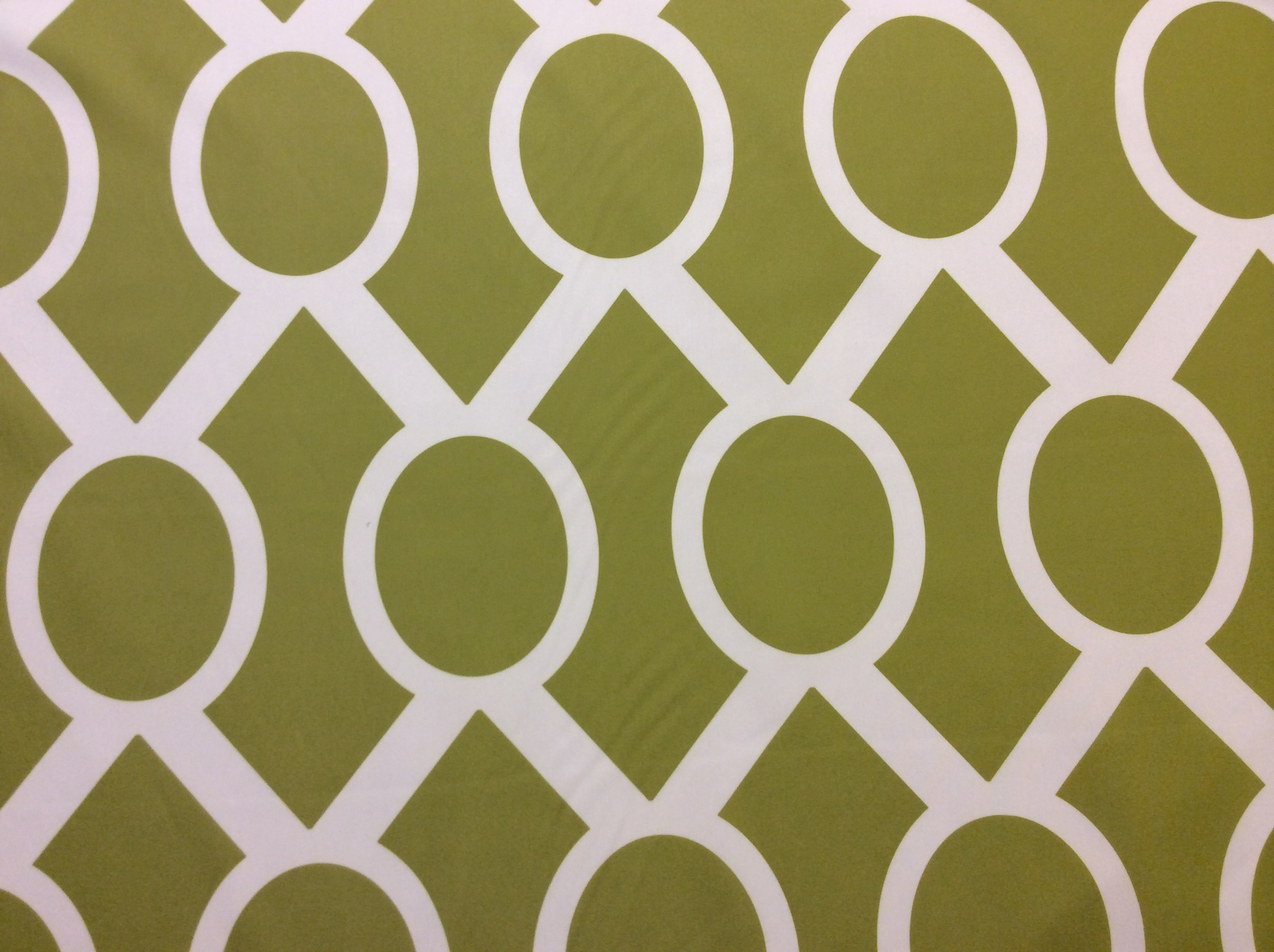 Hot Green and White Print