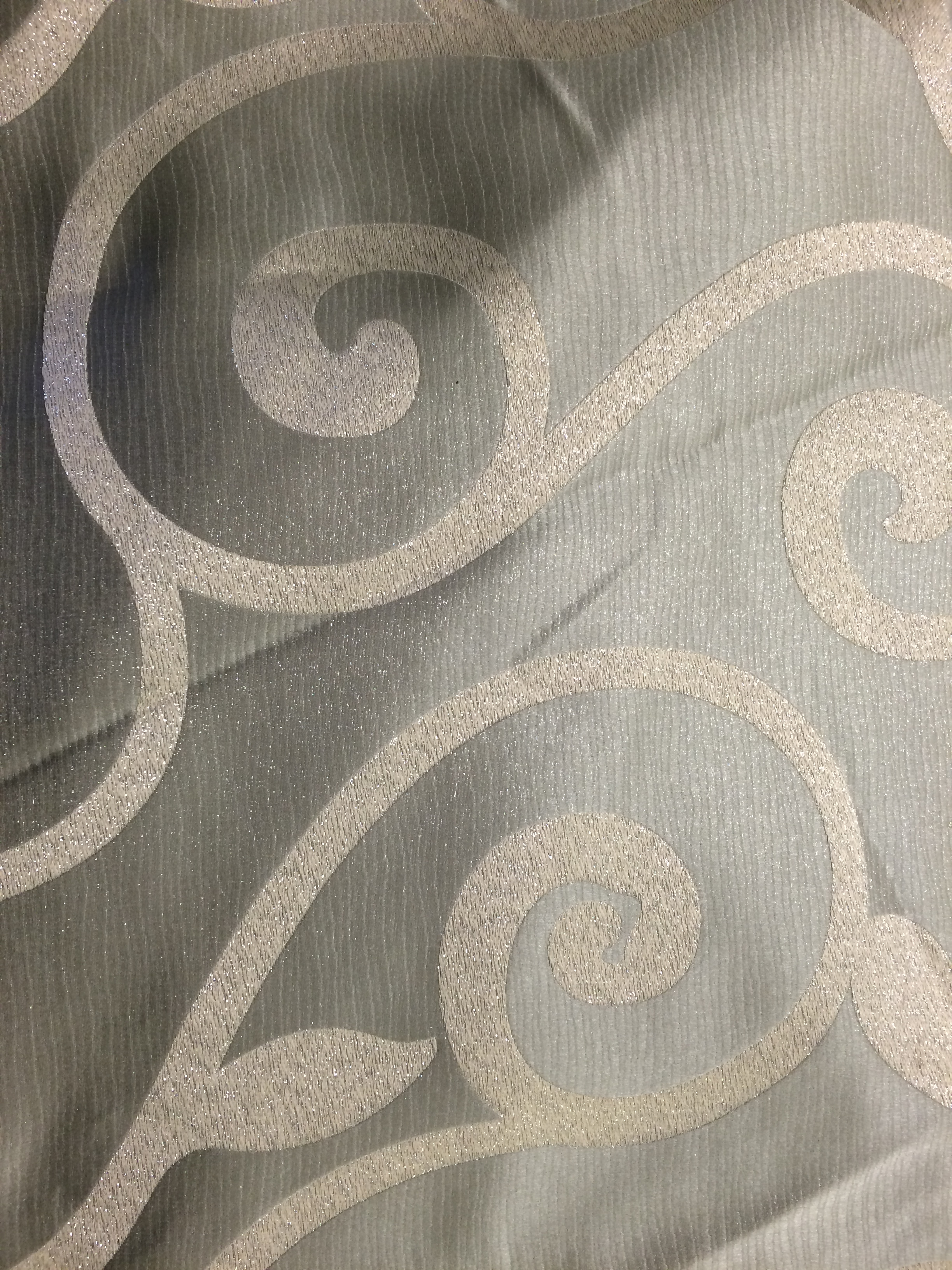 Swirls and leafy coordinate tablecloth