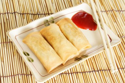 No-fry Egg Rolls with Dipping Sauce